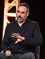"PASADENA, CA - JANUARY 9: Creator/Executive Producer/Writer/Director Alex Garland attends the panel for ""Devs"" during the FX Networks presentation at the 2020 TCA Winter Press Tour at the Langham Huntington on January 9, 2020 in Pasadena, California. (Photo by Frank Micelotta/FX Networks/PictureGroup)"