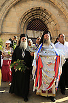 Israel, Jerusalem, Greek Orthodox ceremony on the Feast of the Assumption at Mary's Tomb
