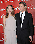 Angelina Jolie and Brad Pitt attends the 2012 Palm Springs International Film Festival Awards Gala held at The Palm Springs Convention Center in Palm Springs, California on January 07,2012                                                                               © 2012 Hollywood Press Agency