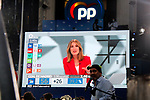 Supporters and militants of Partido Pupular (PP) celebrate the victory in the Madrid regional elections at the PP headquarters on May 04, 2021 in Madrid, Spain.(AlterPhotos/Ramiro Ellis)