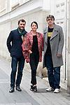 Spanish actors Alex Brendemuhl, Nora Navas and the film director Pere Vila during the 60th Seminci. October 29,2015.(ALTERPHOTOS/Acero)
