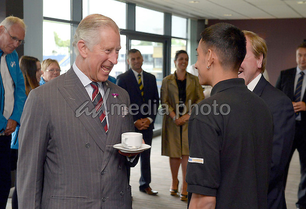 06 July 2015 - Cardiff, Wales - Prince Charles Prince of Wales during a visit to The SSE SWALEC Stadium. Photo Credit: Alpha Press/AdMedia