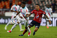MEDELLIN-COLOMBIA- 15-10-2017.Yoni Gonzalez jugador del Atlético Junior en acción contra el Independiente Medellín. Acción de juego entre los equipos Independiente Medellín y el Atlético Junior  durante encuentro  por la fecha 15 de la Liga Aguila II 2017 disputado en el estadio Atanasio Girardot./ Yoni Gonzalez player of Atletico Junior in actions agaisnt Independiente Medellin.Action game between Independiente Medellin and Atletico Junior during match for the date 15 of the Aguila League II 2017 played at Atanasio Girardot stadium . Photo:VizzorImage / León Monsalve / Contribuidor