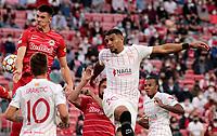 14th September 2021; Sevilla, Spain: UEFA Champions League football,  Sevilla FC versus RB Salzburg;  Diego Carlos of Sevilla and Sucic of Salzburg challenge for a header