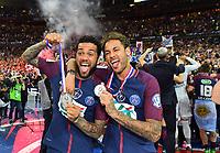 Vainqueur de la Coupe Psg  - Dani Alves et Neymar <br /> Parigi 08-05-2018 Stade de France <br /> Calcio Finale Coppa di Francia <br /> Les Herbiers - Paris Saint Germain <br /> Foto Panoramic/insidefoto