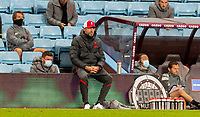 4th October 2020, Villa Park, Birmingham, England;  Liverpools manager Jurgen Klopp looks dejected as his team goes down 6-2 during the English Premier League match between Aston Villa and Liverpool at Villa Park