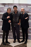 "Argentinian actor Ricardo Darin, spanish director Cesc Gay and spanish actor Javier Camara during the presentation of the film ""Truman"" at NH Tepa´s Palace in Madrid October 26, 2015. <br /> (ALTERPHOTOS/BorjaB.Hojas)"