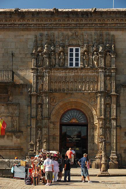 Hostal del los Reyes Catolicos en la Plaza del Obradoiro. Santiago de Compostela.
