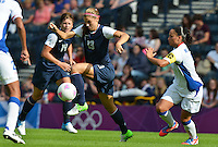 Glasgow, Scotland - July 25, 2012: Alex Morgan of the US women's national team during USA's game against France. USA won 4-2.