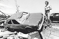 1985 FILE PHOTO - ARCHIVES -<br /> <br /> Storms - Tornados - Ontario 1985<br /> <br /> 1985<br /> <br /> PHOTO :  Erin Comb - Toronto Star Archives - AQP