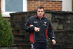 Tommy Bowe during the Ospreys rugby training session today at Llandarcy Academy of Sport near Neath ahead of their Heineken Cup game with Viadana this coming weekend.