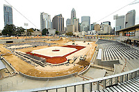 The Charlotte Knights new home at  BB&T Ballpark  will have a seating capacity of 10,000 seats and a natural grass field located in Center City Charlotte, North Carolina. Opening day at the new ballpark will be April, 11, 2014.<br /> <br /> Charlotte Photographer - Patrick Schneider