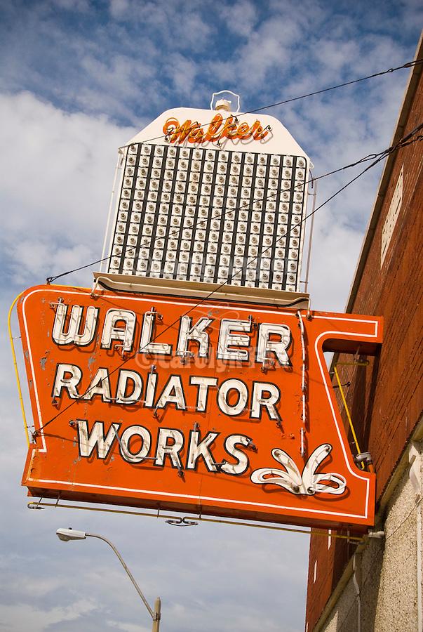 Neon sign for Walker Radiator Works, Memphis, Tenn.