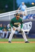 Lynchburg Hillcats first baseman Bobby Bradley (44) during a game against the Wilmington Blue Rocks on June 3, 2016 at Judy Johnson Field at Daniel S. Frawley Stadium in Wilmington, Delaware.  Lynchburg defeated Wilmington 16-11 in ten innings.  (Mike Janes/Four Seam Images)