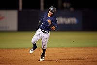 Tampa Tarpons Pablo Olivares (7) running the bases during a Florida State League game against the Daytona Tortugas on May 17, 2019 at George M. Steinbrenner Field in Tampa, Florida.  Daytona defeated Tampa 8-6.  (Mike Janes/Four Seam Images)