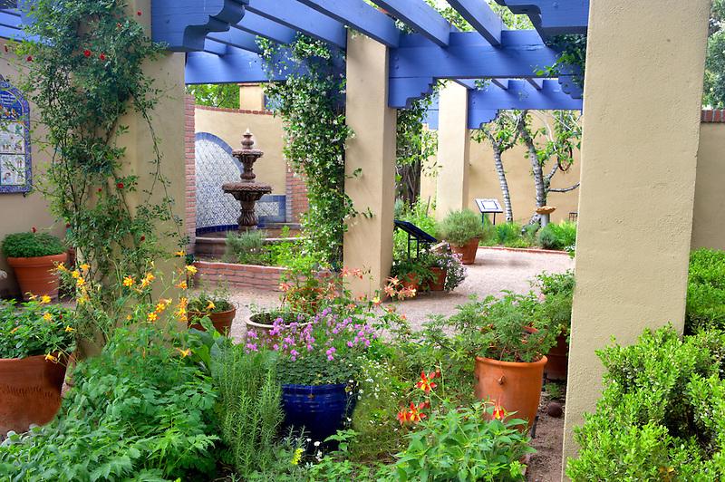 Courtyard in Tucson Botanical Gardens. Tucson. Arizona
