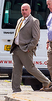 Monday 17 July 2017 <br /> Pictured: David Lewis, arrives at Swansea Crown Court. <br /> RE: David Lewis who allegedly assaulted female colleagues at the fire station where he was working.