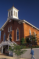 AJ4008, Martin Luther King, MLK, Rev. Martin Luther King Jr., Montgomery, Baptist church, Alabama, Dexter Avenue King Memorial Baptist Church in Montgomery in the state of Alabama.