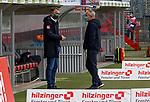 17.10.2020, Schwarzwald Stadion, Freiburg, GER, 1.FBL, SC Freiburg vs SV Werder Bremen<br /> <br /> im Bild / picture shows<br /> <br /> Christian Streich (Trainer SC Freiburg)<br /> Frank Baumann (Geschäftsführer Fußball Werder Bremen) begruessen sich<br /> <br /> Foto © nordphoto / Bratic<br /> <br /> DFL REGULATIONS PROHIBIT ANY USE OF PHOTOGRAPHS AS IMAGE SEQUENCES AND/OR QUASI-VIDEO.