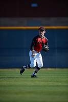 Timothy Wilson (16) of Center Hill High School in Olive Branch, Mississippi during the Baseball Factory All-America Pre-Season Tournament, powered by Under Armour, on January 13, 2018 at Sloan Park Complex in Mesa, Arizona.  (Mike Janes/Four Seam Images)