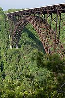 New River Gorge Bridge, West Virginia, US Highway 19. Longest steel span in Western Hemisphere.