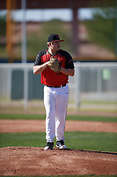 Landon Gartman (15) of Enterprise High School in Bogue Chitto, Mississippi during the Baseball Factory All-America Pre-Season Tournament, powered by Under Armour, on January 13, 2018 at Sloan Park Complex in Mesa, Arizona.  (Mike Janes/Four Seam Images)
