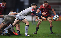 2nd January 2021; Kingsholm Stadium, Gloucester, Gloucestershire, England; English Premiership Rugby, Gloucester versus Sale Sharks; Will Cliff of Sale Sharks passes the ball