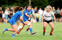 24 August 2019; Niamh Ní Dhroma during the Women's Interprovincial Championship match between Ulster and Leinster at Armagh RFC in Armagh. Photo by John Dickson / DICKSONDIGITAL