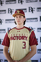 Nicholas Spardone (3) of Fred J. Page High School in Thompsons Station, Tennessee during the Baseball Factory All-America Pre-Season Tournament, powered by Under Armour, on January 12, 2018 at Sloan Park Complex in Mesa, Arizona.  (Zachary Lucy/Four Seam Images)