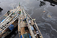 A polluted river in central Jakarta.