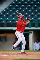 Canadian Junior National Team Joshua Walker (4) at bat during a Florida Instructional League game against the Atlanta Braves on October 9, 2018 at the ESPN Wide World of Sports Complex in Orlando, Florida.  (Mike Janes/Four Seam Images)