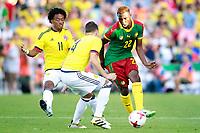 Colombia's Juan Guillermo Cuadrado (l) and Santiago Arias (c) and Cameroon's Jonathan Ngwem during international friendly match. June 13,2017.(ALTERPHOTOS/Acero) (NortePhoto.com) (NortePhoto.com)