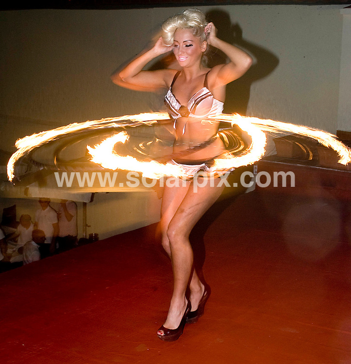 **ALL ROUND EXCLUSIVE PICTURES FROM SOLARPIX.COM**                                             **WORLDWIDE SYNDICATION RIGHTS**                                                                                  Caption: Georgina Leahy from Girls Roc, the fire-breathing, snake-wielding dance group currently on Britains Got Talent TV talent show, made a guest appearence at the launch of the new Splash Pool Bar in Marbella, Spain. 6 May 2011                                                                              This pic: Georgina Leahy                                                                                             JOB REF: 13306 JGS       DATE: 06_05_2011                                                           **MUST CREDIT SOLARPIX.COM OR DOUBLE FEE WILL BE CHARGED**                                                                      **MUST AGREE FEE BEFORE ONLINE USAGE**                               **CALL US ON: +34 952 811 768 or LOW RATE FROM UK 0844 617 7637**