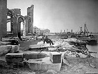 Ruins of Norfolk Navy Yard.  December 1864. James Gardner. (War Dept.)<br /> Exact Date Shot Unknown<br /> NARA FILE #: 165-SB-18<br /> WAR & CONFLICT BOOK #:  247