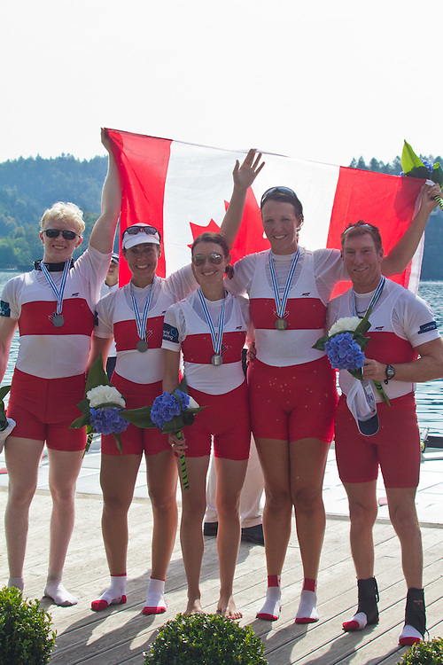 Rowing, 2011 FISA World Rowing Championships, Lake Bled, Bled, Slovenia, Europe, Rowing Canada Aviron, Canadian LTA Mixed Coxed Four, LTA4+, Paralympic category, Final, September 4, 2011, Silver Medal, Second Place, Tony Theriault (Victoria, BC) Nanaimo Rowing Club, David Blair (Ottawa, ON) Ottawa Rowing Club, Meghan Montgomery (Winnipeg, MB) Winnipeg Rowing Club, Victoria Nolan (Toronto, ON) Argonaut Rowing Club/Bayside Rowing Club, Cox: Laura Comeau (St. Catharines, ON) Ridley Graduate BC
