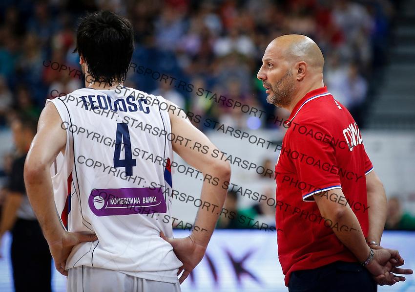 Kosarka-Basketball<br /> Srbija v Grcka-Prijateljski Mec<br /> head coach Aleksandar Djordjevic and Milos Teodosic<br /> Beograd, 28.06.2016.<br /> foto: Srdjan Stevanovic/Starsportphoto ©