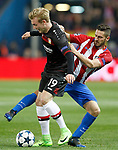 Atletico de Madrid's Koke Resurreccion (r) and Bayer 04 Leverkusen's Julian Brandt during Champions League 2016/2017 Round of 16 2nd leg match. March 15,2017. (ALTERPHOTOS/Acero)