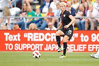 14 MAY 2011: USA Women's National Team midfielder Megan Rapinoe (15) during the International Friendly soccer match between Japan WNT vs USA WNT at Crew Stadium in Columbus, Ohio.