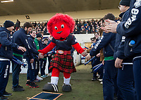 London Scottish mascot during the Greene King IPA Championship match between London Scottish Football Club and Bristol Rugby at Richmond Athletic Ground, Richmond, United Kingdom on 17 February 2018. Photo by Vince  Mignott.