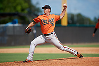 Baltimore Orioles pitcher Nick Vespi (76) delivers a pitch during an Instructional League game against the New York Yankees on September 23, 2017 at the Yankees Minor League Complex in Tampa, Florida.  (Mike Janes/Four Seam Images)