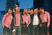 10.05.2014, Postpalast, Muenchen, GER, 1. FBL, FC Bayern Muenchen Meisterfeier, im Bild Players of Bayern Muenchen celebrate during the official Champions party Postpalast on May 10, 2014 in Munich, Germany. (Photo by Alexander Hassenstein/Bongarts/Getty Images), // during official Championsparty of Bayern Munich at the Postpalast in Muenchen, Germany on 2014/05/11. EXPA Pictures © 2014, PhotoCredit: EXPA/ Eibner-Pressefoto/ EIBNER<br /> <br /> *****ATTENTION - OUT of GER***** <br /> Football Calcio 2013/2014<br /> Bundesliga 2013/2014 Bayern Campione Festeggiamenti <br /> Foto Expa / Insidefoto