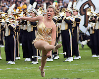 Purdue golden girl. The Purdue Boilermakers defeated the Ohio State Buckeyes 26-18 at Ross-Ade Stadium, West Lafayette, Indiana on October 17, 2009..
