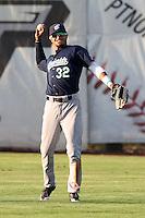 Eugene Emeralds outfielder Donavan Tate #32 before game against the Salem-Keizer Valcanoes at Valcanoes Stadium on August 9, 2011 in Salem-Keizer,Oregon. Eugene defeated Salem-Keizer 13-7.(Larry Goren/Four Seam Images)