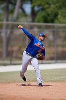 New York Mets Jhoan Urena (13) during practice before a minor league Spring Training game against the Miami Marlins on March 26, 2017 at the Roger Dean Stadium Complex in Jupiter, Florida.  (Mike Janes/Four Seam Images)
