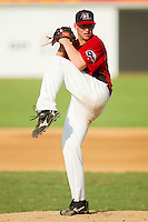 Starting pitcher Neil Ramirez #37 of the Hickory Crawdads in action against the Greensboro Grasshoppers at  L.P. Frans Stadium July 10, 2010, in Hickory, North Carolina.  Photo by Brian Westerholt / Four Seam Images