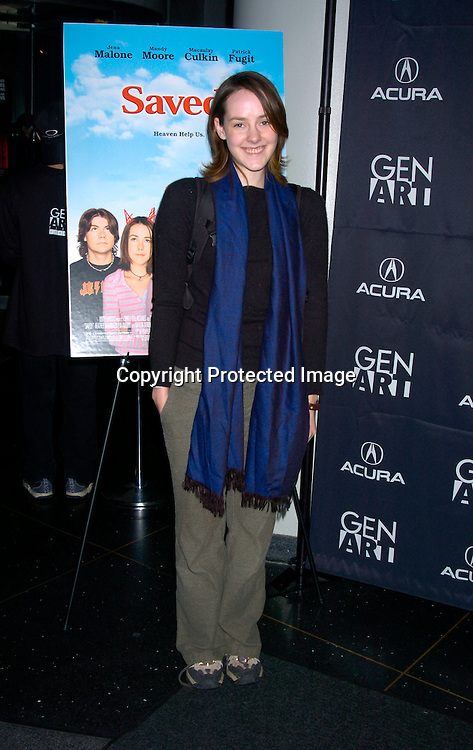 """Jena Malone ..at the Opening of the Gen Art Film Festival screening of ..""""Saved"""" on April 14, 2004 at the Loews LIncoln Square ...Photo by Robin Platzer, Twin Images"""