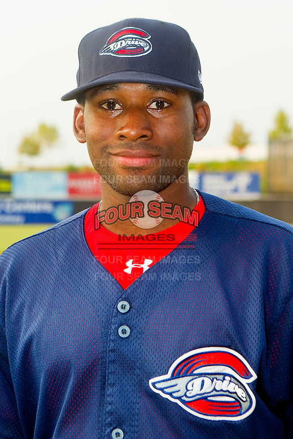 Jackie Bradley #10 of the Greenville Drive prior to the game against the Hickory Crawdads at L.P. Frans Stadium on September 3, 2011 in Hickory, North Carolina.  The Crawdads defeated the Drive 3-0.  (Brian Westerholt / Four Seam Images)