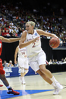 BERKELEY, CA - MARCH 30: Jayne Appel drives to the bucket during Stanford's 84-66 win against the Ohio State Buckeyes on March 28, 2009 at Haas Pavilion in Berkeley, California.