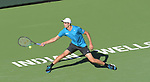 Hubert Hurkacz (POL) is defeated by Grigor Dimitrov (BUL)  6-3, 4-6, 6-7 (2-7), at the BNP Paribas Open being played at Indian Wells Tennis Garden in Indian Wells, California on October 14,2021: ©Karla Kinne/Tennisclix/CSM