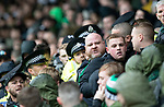 St Johnstone v Celtic…07.10.18…   McDiarmid Park    SPFL<br />An angry Celtic fan is taken out of the stand by police officers<br />Picture by Graeme Hart. <br />Copyright Perthshire Picture Agency<br />Tel: 01738 623350  Mobile: 07990 594431